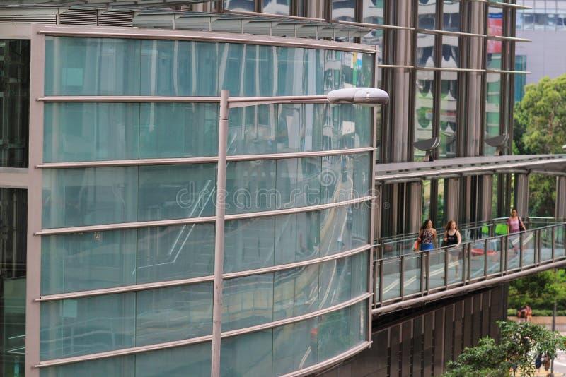 Una cavalcavia moderna a Hong Kong immagini stock