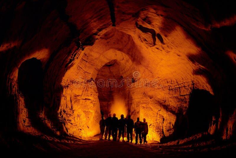 In una caverna. immagini stock libere da diritti