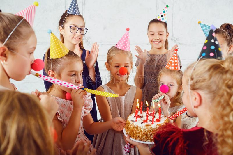 Una celebrazione del compleanno dei bambini fotografie stock