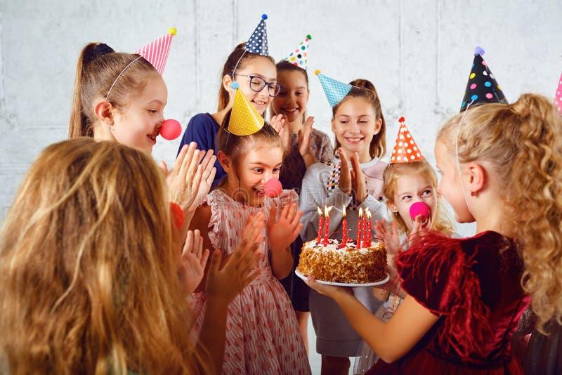 Una celebrazione del compleanno dei bambini fotografia stock libera da diritti
