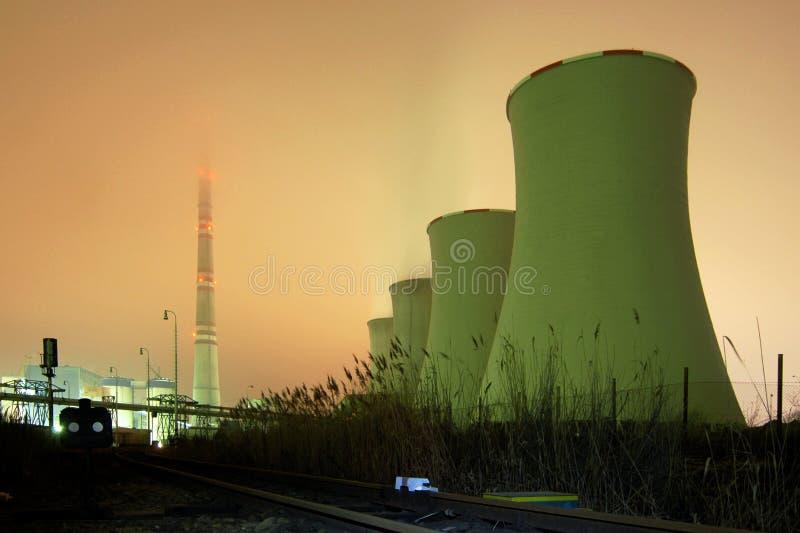 Una Centrale Elettrica Immagine Stock