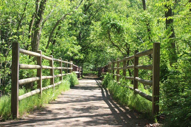 Una cerca del bosque fotos de archivo