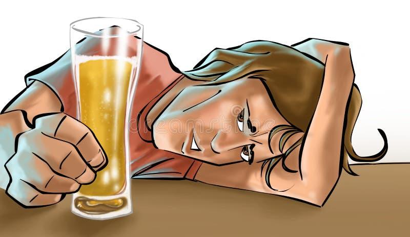 Una cerveza de consumición del muchacho libre illustration