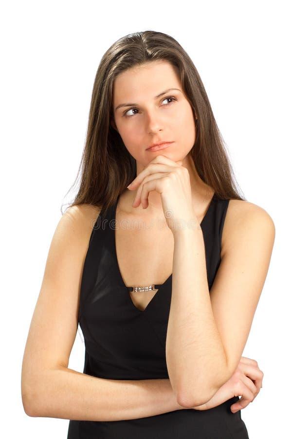 Una chica joven está triste imagen de archivo
