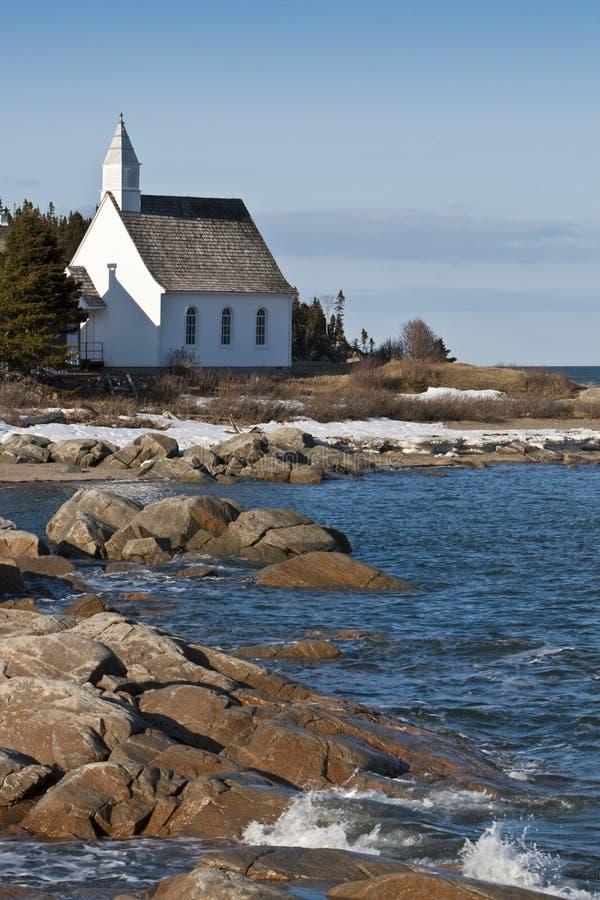 Una chiesa in Charlevoix fotografia stock libera da diritti