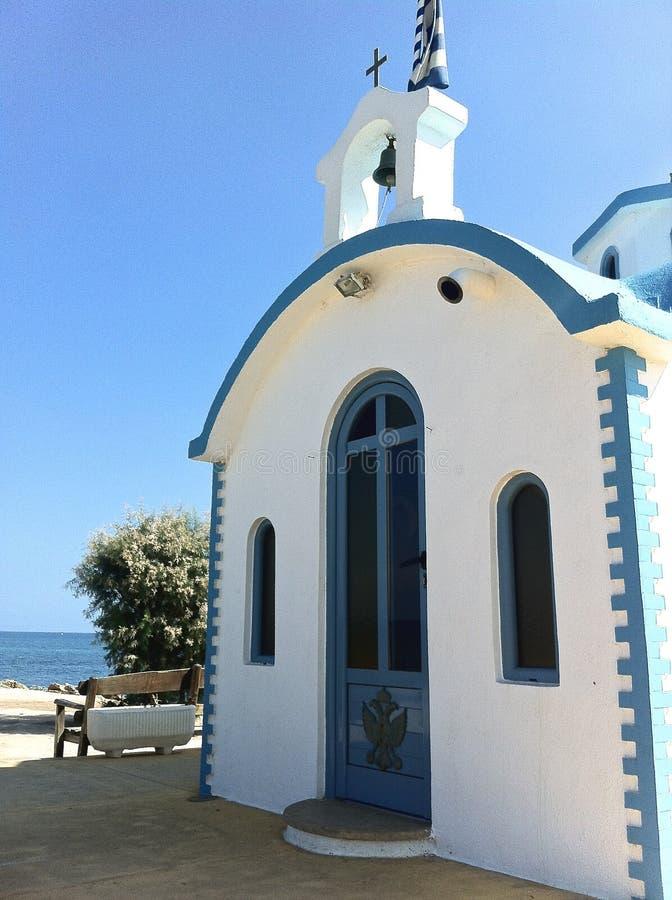 Una chiesa in Creta fotografia stock