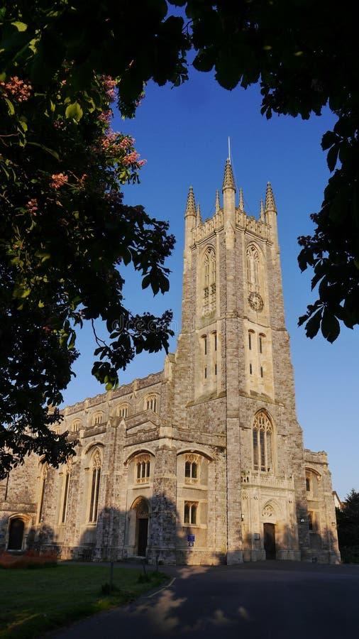 Una chiesa in Exmouth Devon in Inghilterra ad ovest del sud fotografia stock libera da diritti