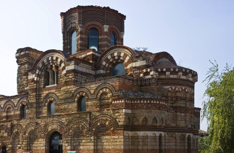 Una chiesa in Nessebar immagine stock