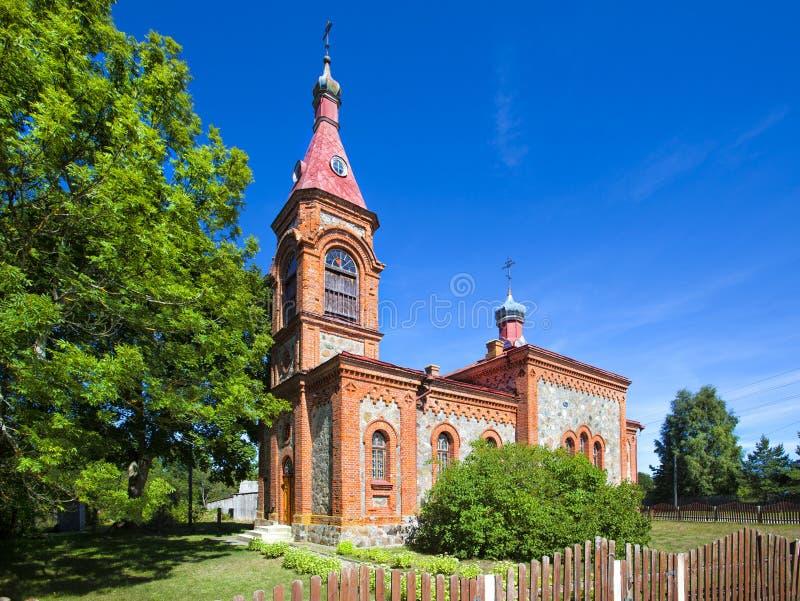 Una chiesa orthodoxe in Kolka fotografia stock libera da diritti