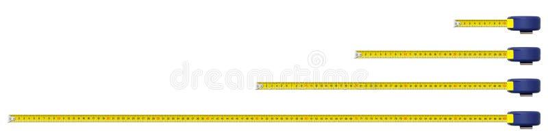 Una cinta de la medida del metal del contador foto de archivo