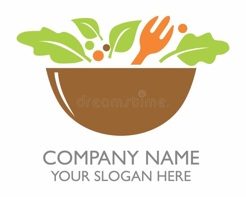 Una ciotola di logo dell'insalata fotografia stock libera da diritti
