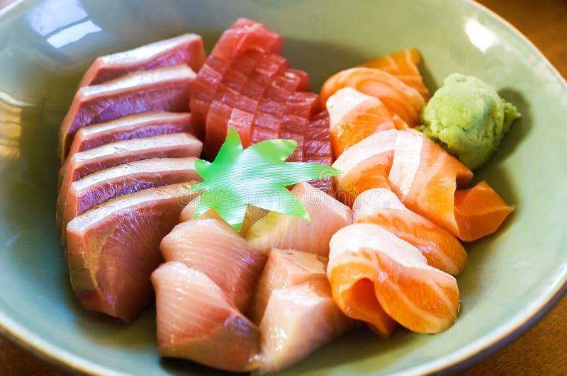 Una ciotola di sashimi fotografia stock libera da diritti