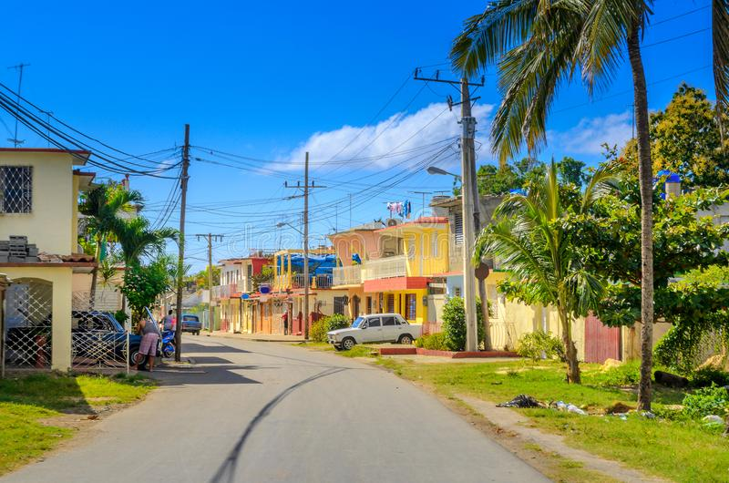 Una cittadina in una zona rurale immagine stock libera da diritti