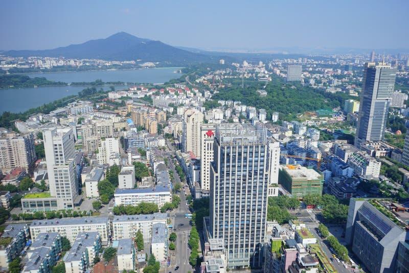 Una ciudad grande en China fotografía de archivo libre de regalías