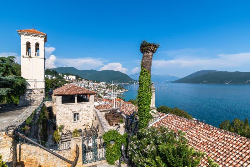Una ciudad vieja de Herceg Novi en Montenegro imágenes de archivo libres de regalías