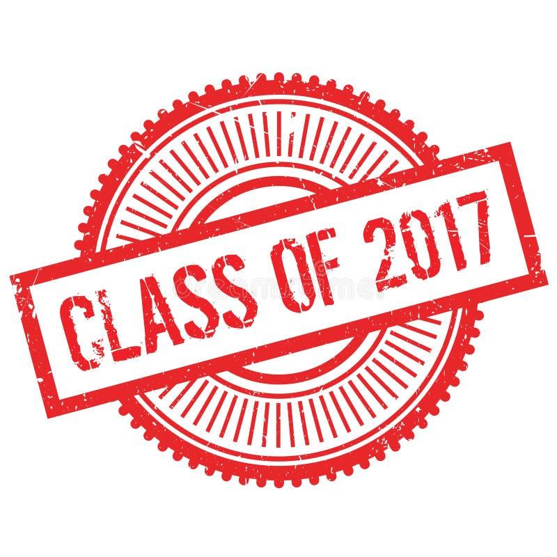 Una classe di bollo 2017 illustrazione di stock