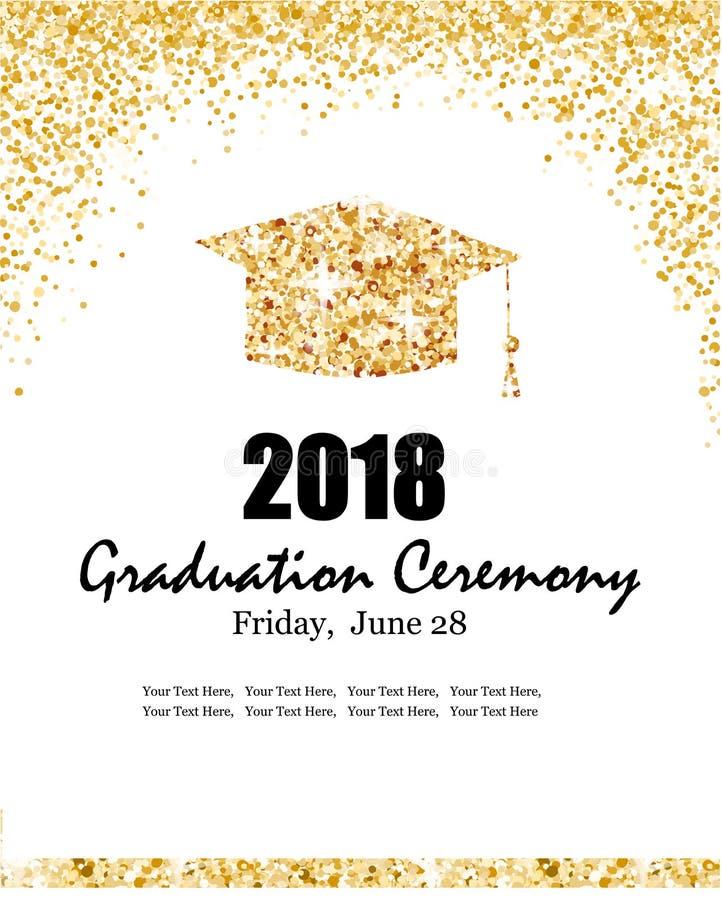 Una classe di insegna 2018 di graduation illustrazione vettoriale