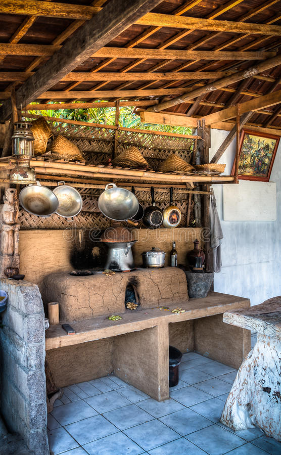 Una cocina rural al aire libre foto de archivo libre de regalías