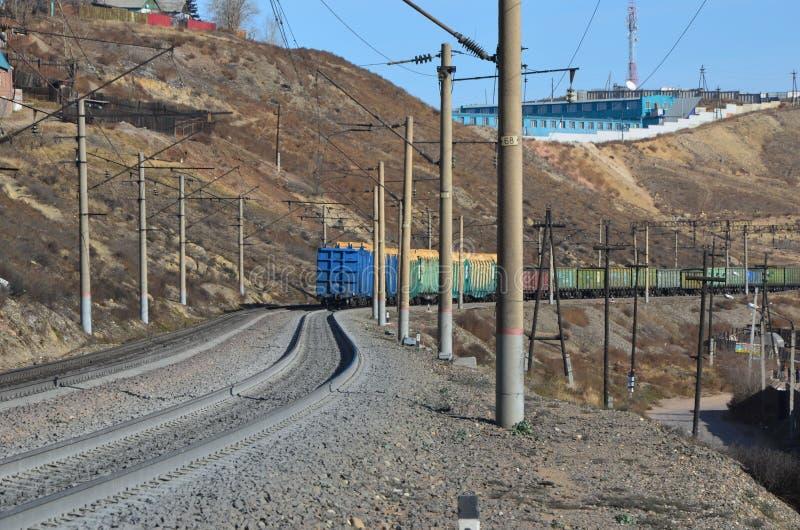 Una coda uscente del treno fotografia stock libera da diritti