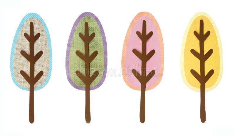Una colección de árboles cortados libre illustration
