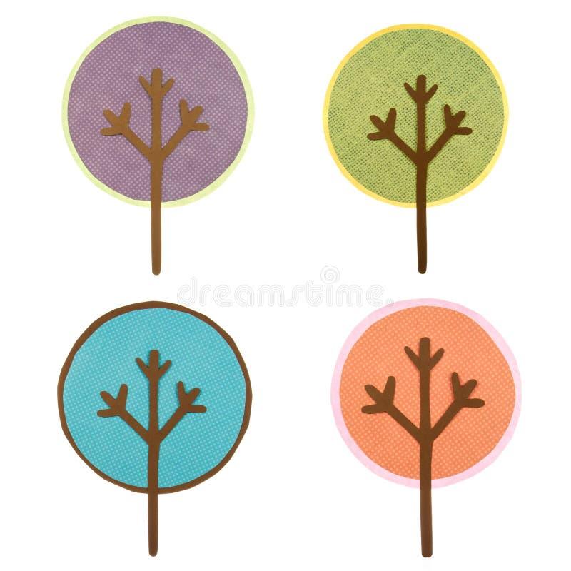 Una colección de árboles cortados redondos libre illustration