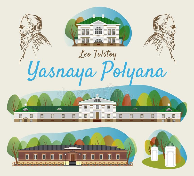 Una Colección De Casas En Yasnaya Polyana En La Ciudad De Tula En La Federación Rusa Una Atracción Local Ilustración Del Vector Ilustración De Ciudad Pasillo 186927701