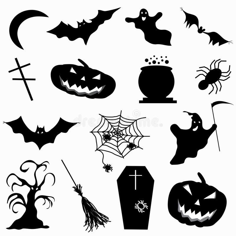 Una colección de ejemplo del vector de Halloween de 15 iconos ilustración del vector