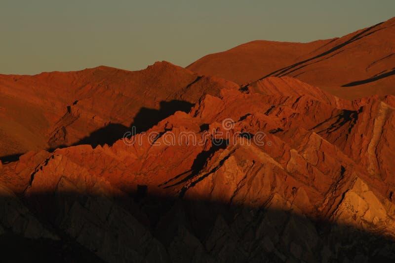 Una collina di sette colori fotografia stock