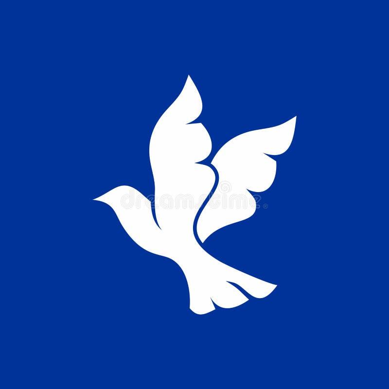 Una colomba di volo è un simbolo dello Spirito Santo illustrazione vettoriale