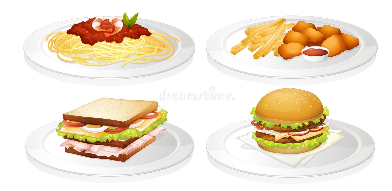 Una comida stock de ilustración