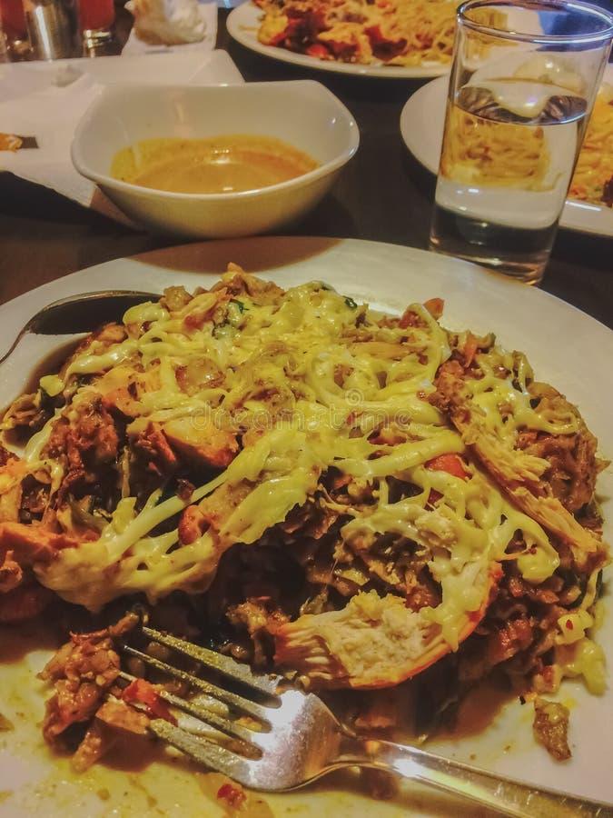 Una comida asiática hecha con el polvo del pan fotos de archivo