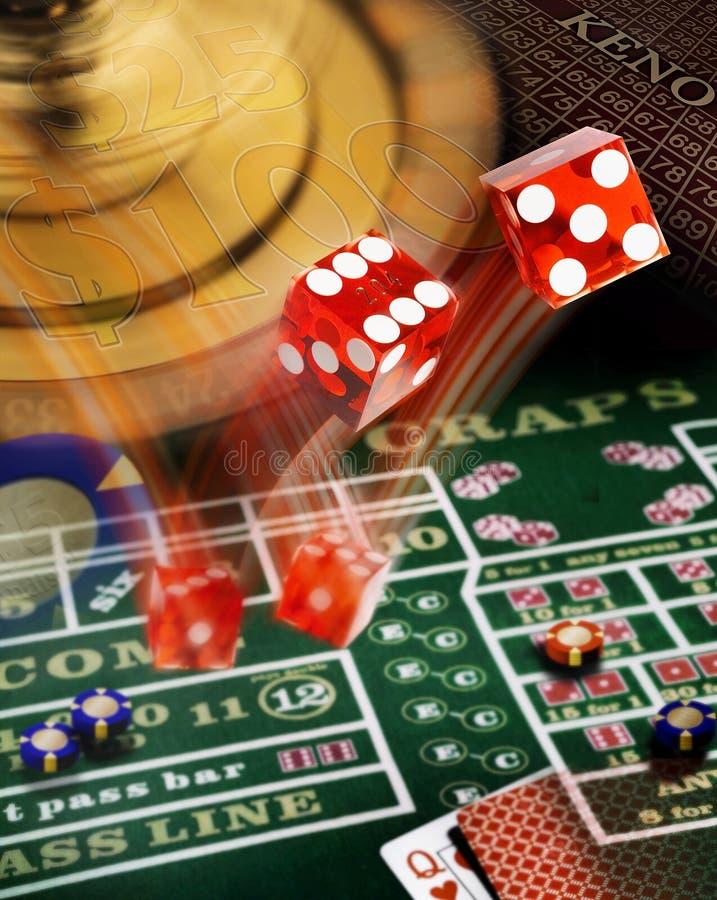 Una compilación de juegos de casino fotografía de archivo libre de regalías