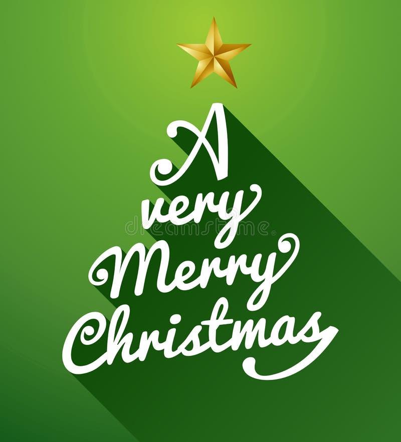 Una composición muy feliz del árbol de navidad. libre illustration