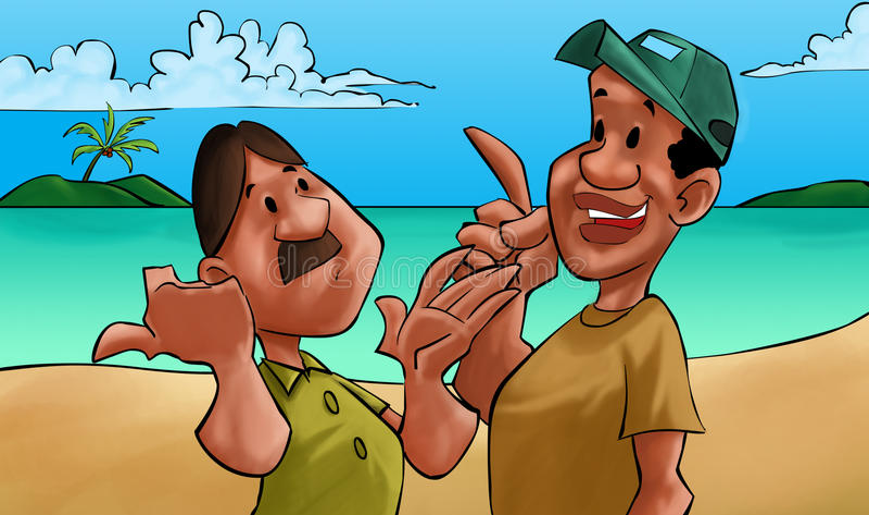 Una conversazione dei due amici royalty illustrazione gratis