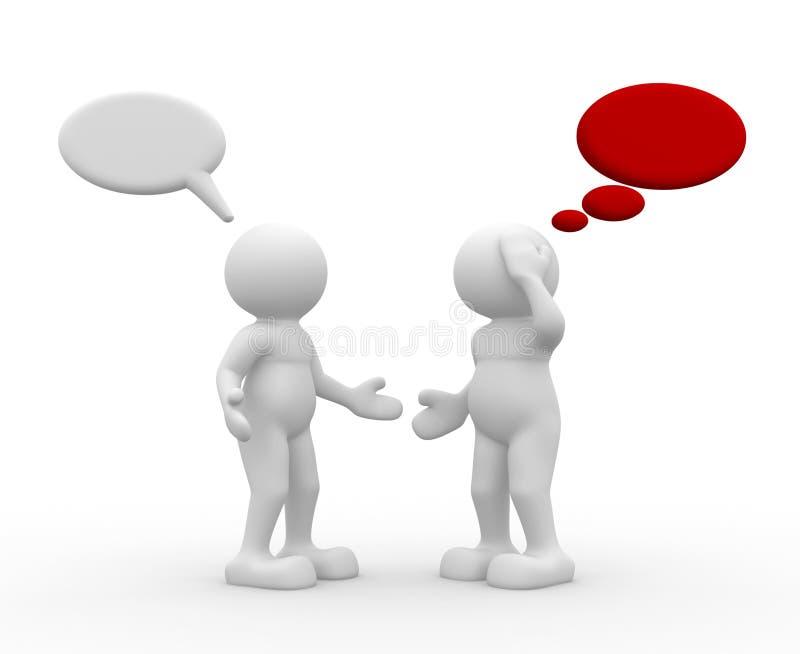 Una conversazione delle due genti illustrazione vettoriale