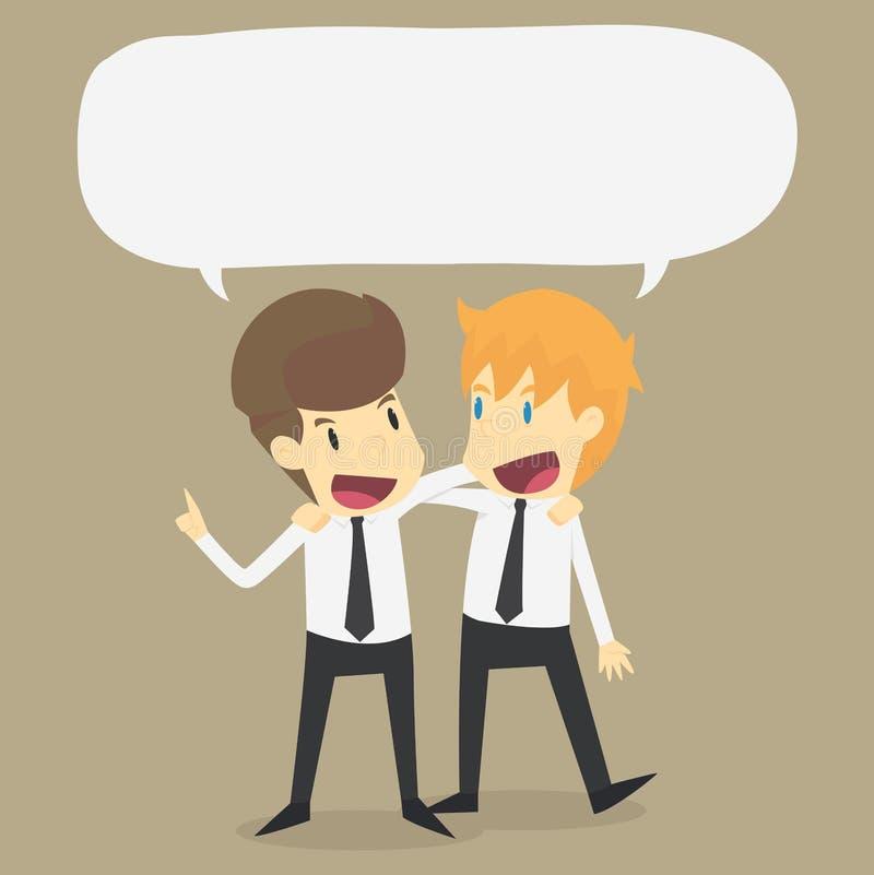Una conversazione di due uomini d'affari Riunione degli amici o dei colleghi royalty illustrazione gratis