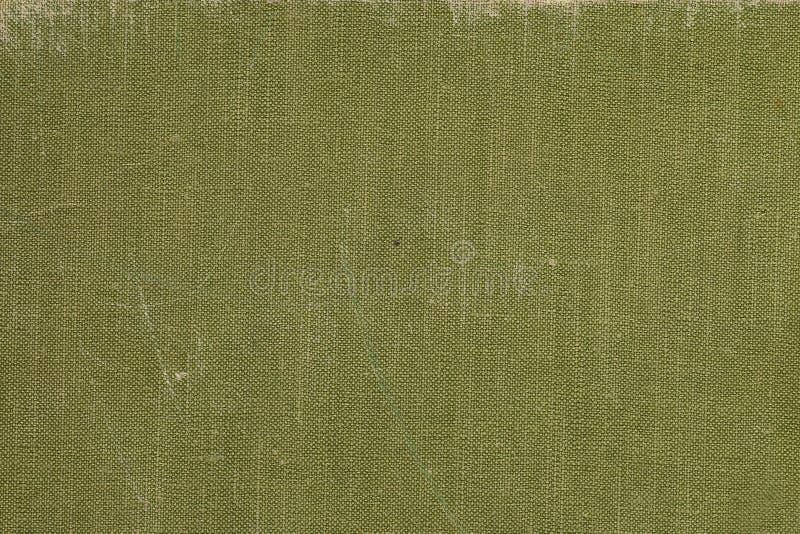 Una copertina di libro d'annata del panno con il modello verde dello schermo immagini stock libere da diritti