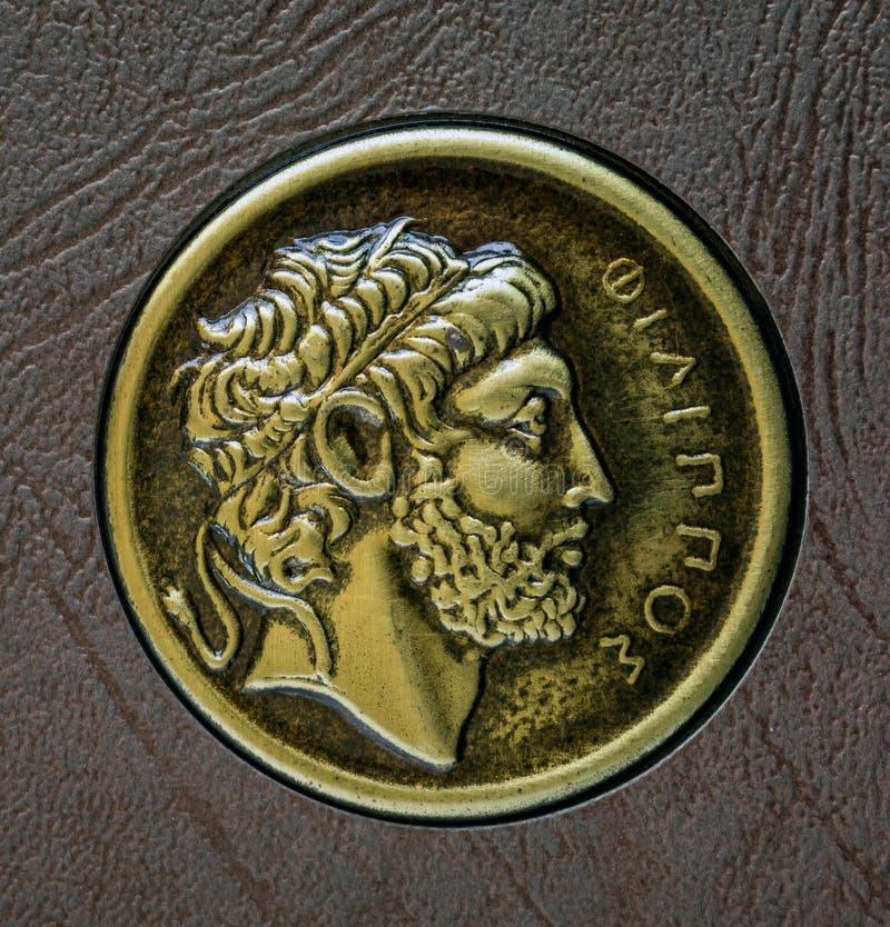 Una copia de la moneda del griego clásico, Philip de Macedon, siglo III fotos de archivo