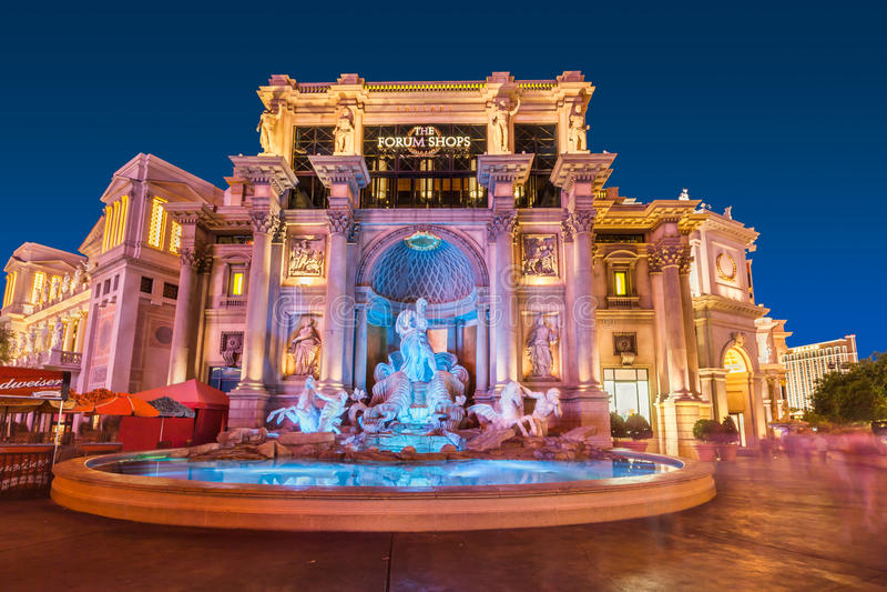 Fontana di Trevi di Las Vegas fotografie stock