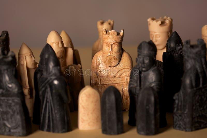 Figuras del ajedrez imagen de archivo