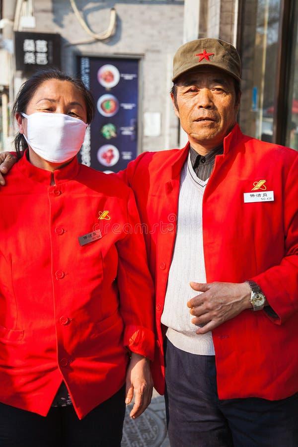 Una coppia cinese a Pechino Cina il 28 marzo 2017 fotografia stock libera da diritti