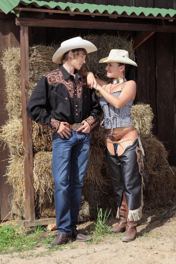 Una coppia di cowboy fotografie stock libere da diritti