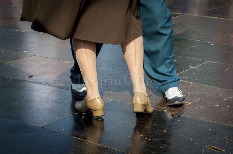Una coppia di dancing di Lindy Hop fotografia stock