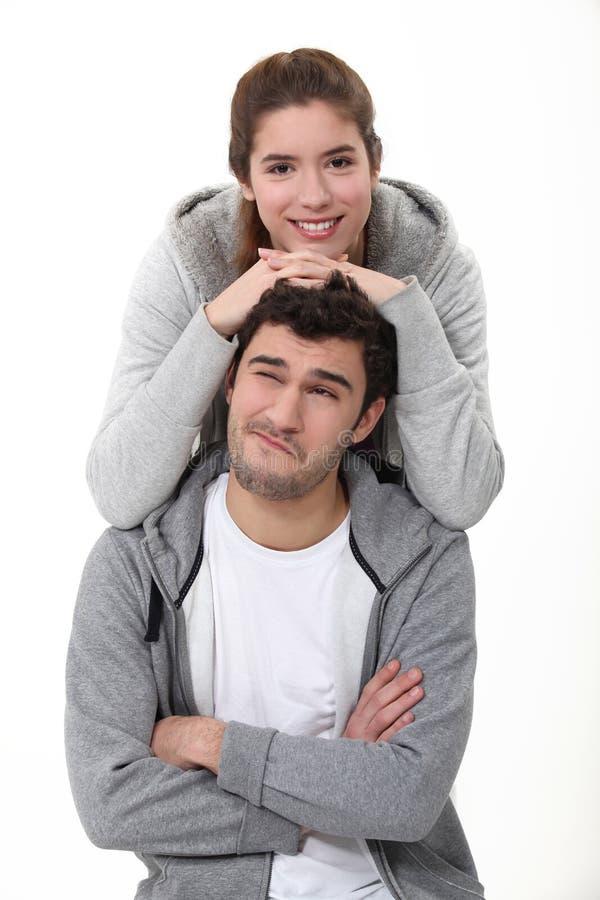 Una coppia piacevole fotografia stock libera da diritti