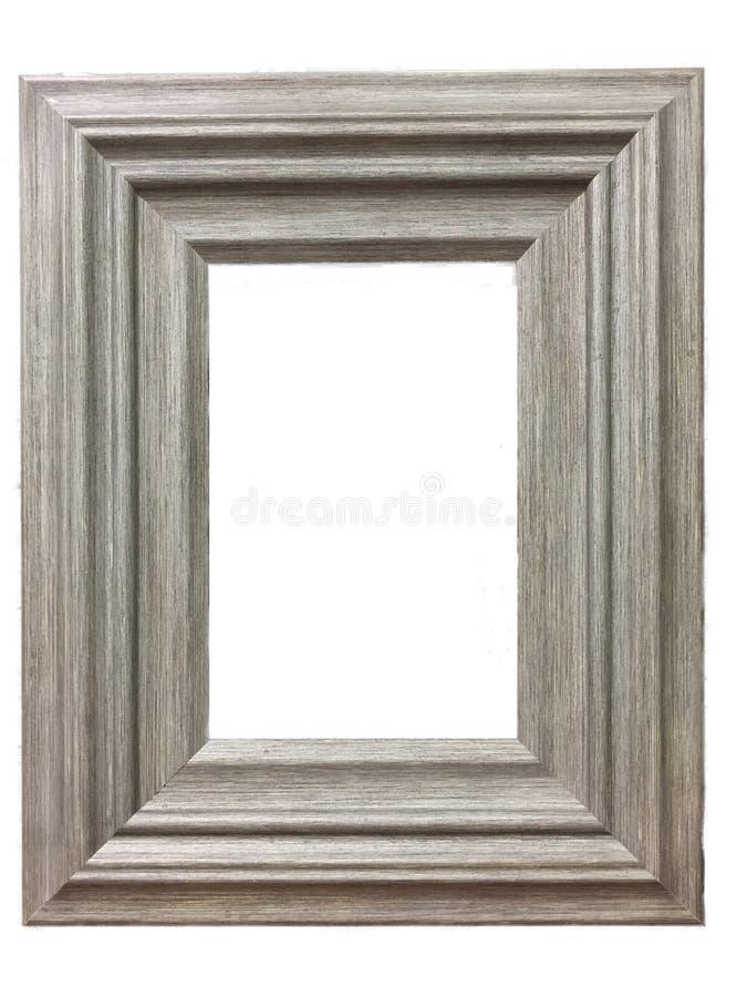 Una cornice di legno fotografie stock