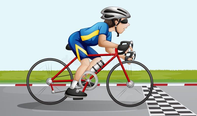 Una corsa della bici royalty illustrazione gratis