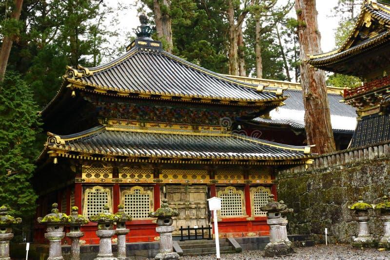 Una costruzione del complesso del santuario in Tosho-Gu fotografia stock libera da diritti