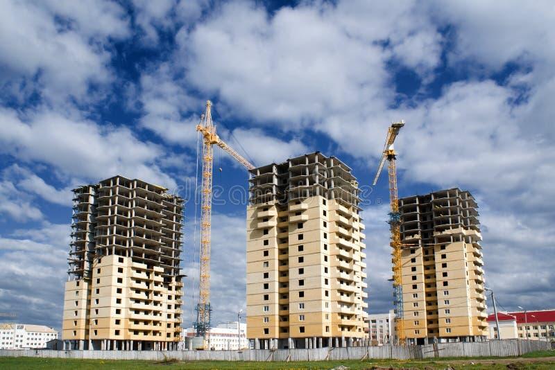 Una costruzione di 3 edifici fotografia stock libera da diritti