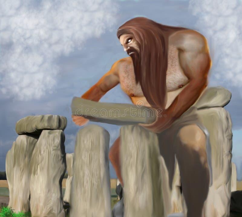 Una costruzione gigante Stonehenge illustrazione di stock