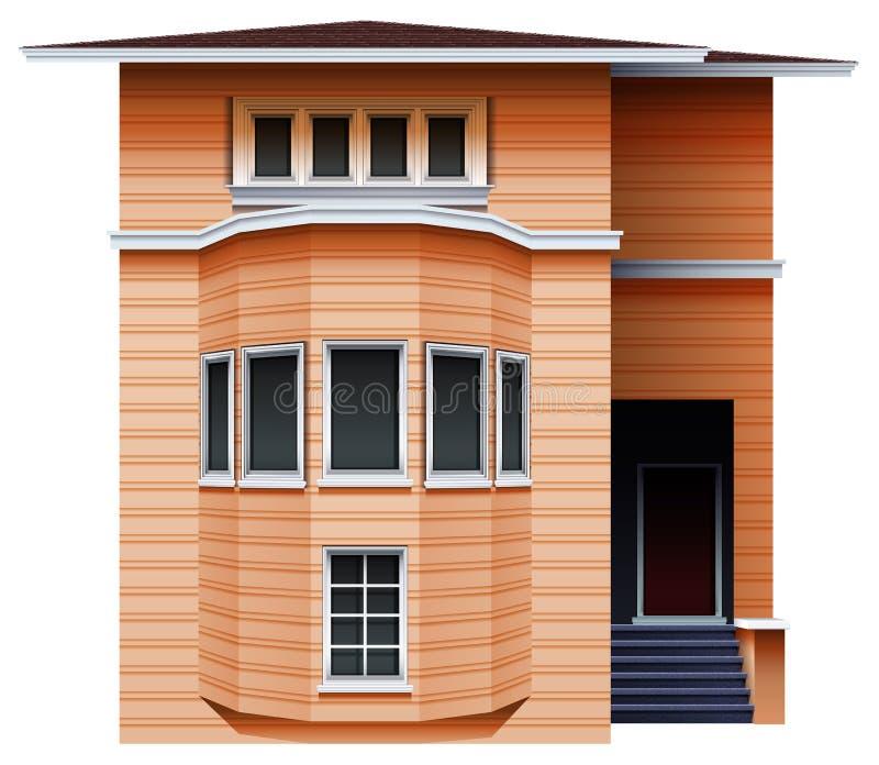Una costruzione marrone alta illustrazione di stock